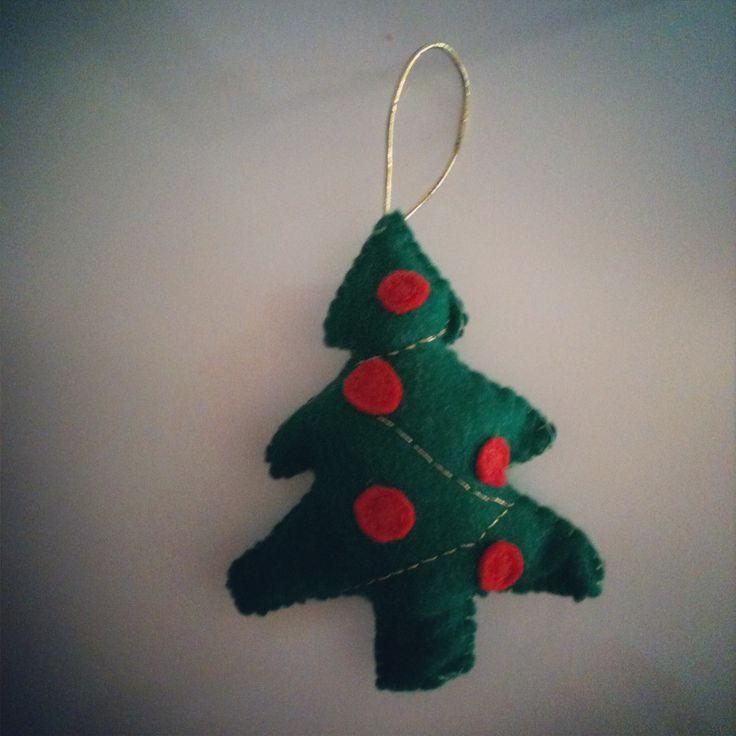 Christmas tree decoration #handmade #felt