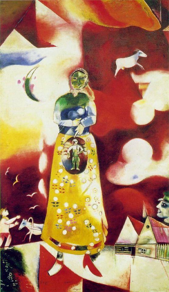 Marc Chagall - Between Surrealism & NeoPrimitivism - Marc Chagall. Maternity. 1913