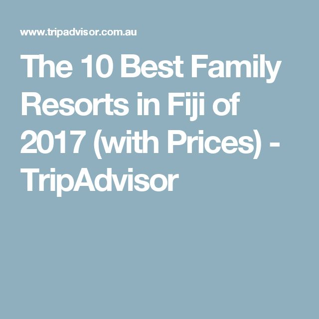 The 10 Best Family Resorts in Fiji of 2017 (with Prices) - TripAdvisor