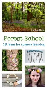 forest school activities for outdoor learning centers