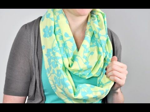 Tutorial: How to Sew an Infinity Scarf - YouTube.  This is the easiest infinity scarf tutorial I have seen yet. Well explained and demonstrated!