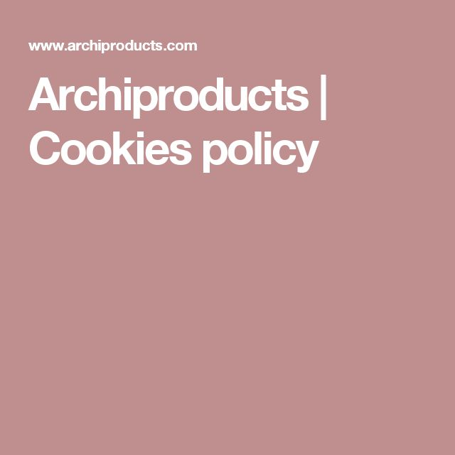 Archiproducts | Cookies policy
