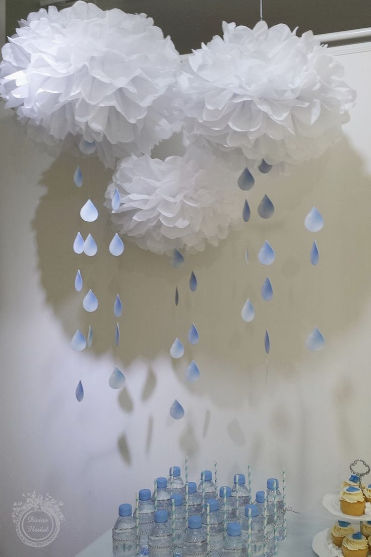 25 best ideas about raindrop baby shower on pinterest for Balloon cloud decoration