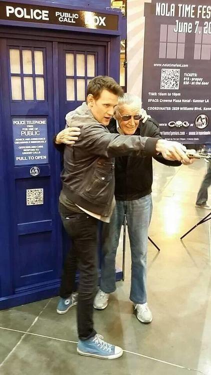 Matt Smith and Stan Lee--epic!
