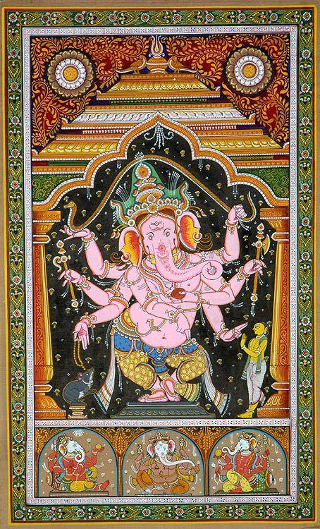 Eight armed dancing Ganesha