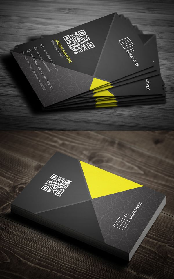 Dark Creative Business Card #businesscards #psdtemplate #printready #businesscardtemplate
