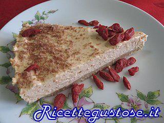 Cheesecake alle bacche di goji.. http://www.ricettegustose.it/Semifreddi_e_gelati_1_html/Cheesecake_alle_bacche_di_goji.html