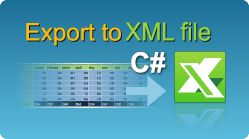 Export data to XML Spreadsheet file in C#.NET from ASP.NET web pages, windows applications, winforms, console applications! Spreadsheets in .NET. #EasyXLS #Excel #Export #XML #CSharp