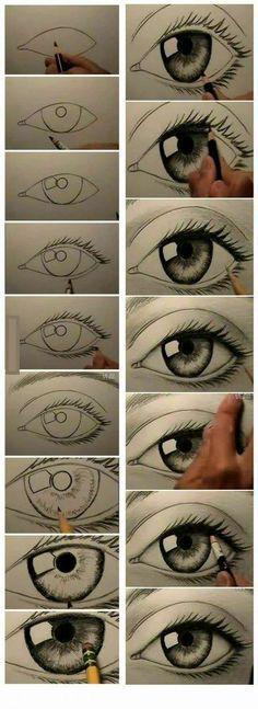 Como dibujar ojos