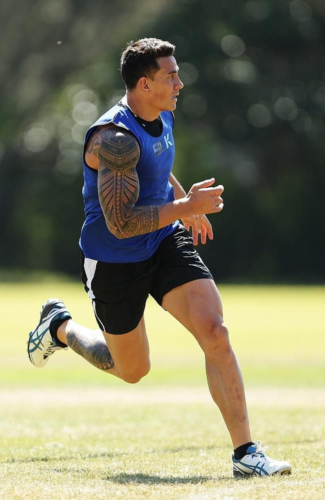 Sonny Bill Williams at training with the New Zealand 'All Blacks' squad...love their performance of the  'Haka' - a traditional Maori war dance.