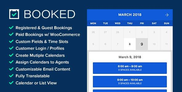 Booked Appointment Booking For Wordpress Con Imagenes Wordpress
