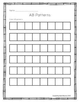 ab pattern freebie patterning kindergarten teaching. Black Bedroom Furniture Sets. Home Design Ideas