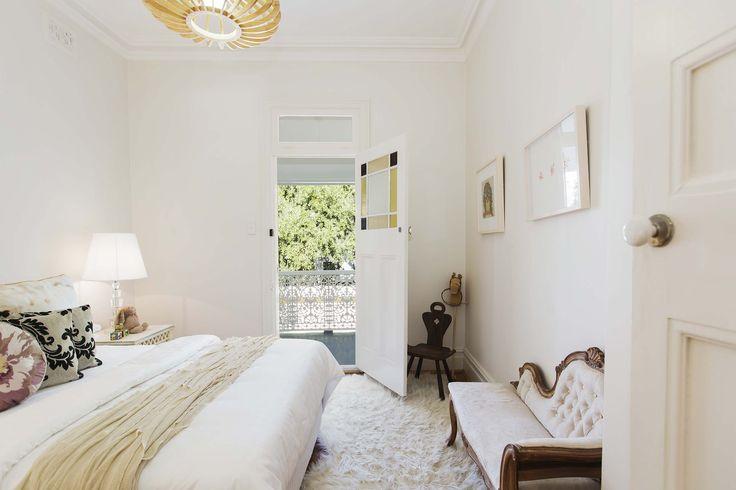 Impressive guest bedroom at 18 Boundary Street Paddington