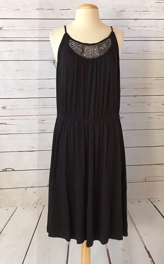 Nwt Lane Bryant Plus Size 1820 Black Emebllsihed Sleeveless Shift