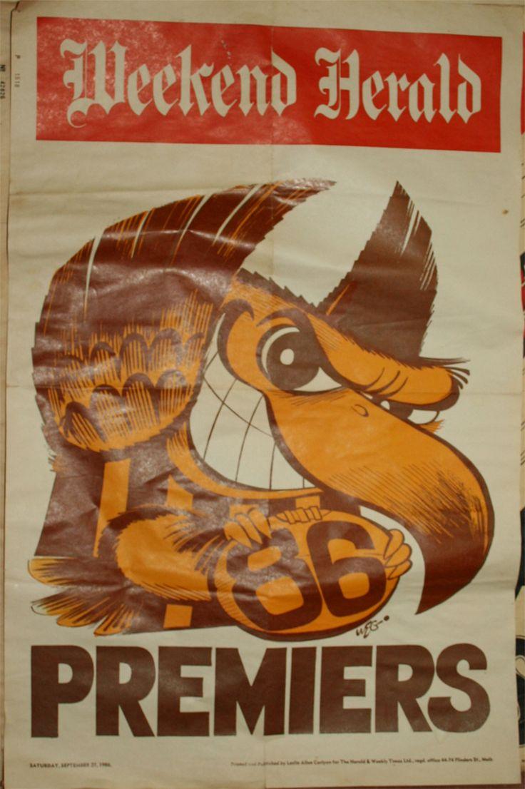 Weg Premiers Poster 1986 Hawthorn Hawks