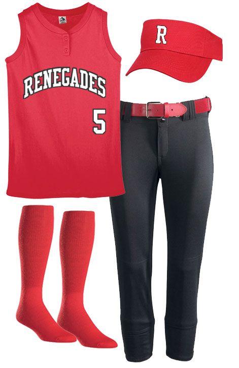 Softball uniforms idea from TeamSportswear.