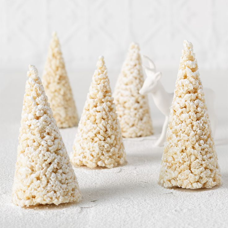 Our Christmas tree White Chocolate Crackles add a touch of Winter to your Aussie Christmas feasts!