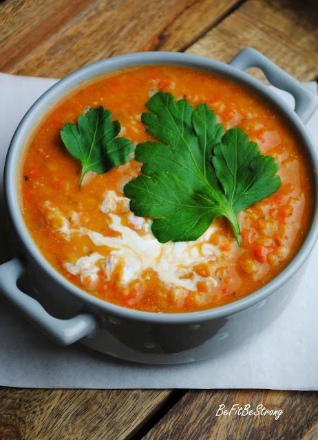 Just Be Fit Be Strong!: Lekka pomidorowa zupa z soczewicy i marchewki