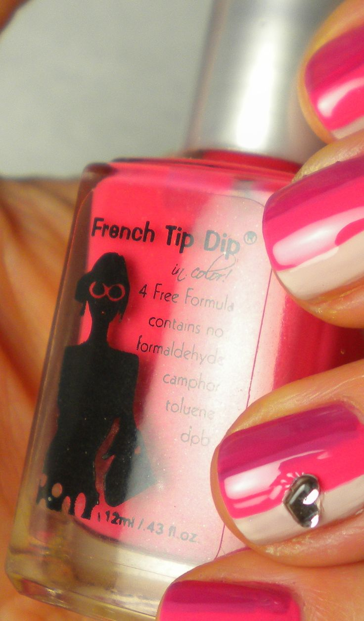 Valentines Day #nailart Easy Stripes & Heart decal. Nails by April @ www.FrenchTipDip.com