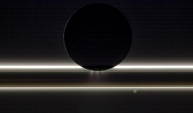 Enceladus in Silhouette