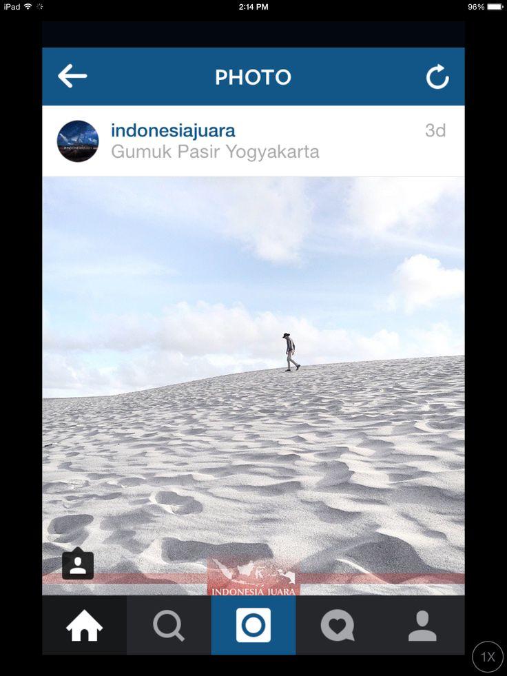 Gumuk pasir. Yogyakarta. Middle Jawa. Indonesia.