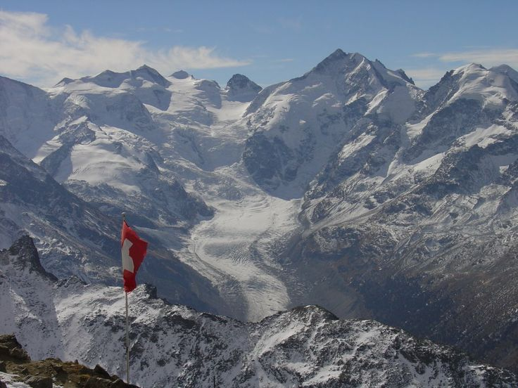 Morteratsch glacier and Piz Bernina 2