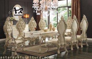 Set Meja Makan Ukiran Classic Design Furniture