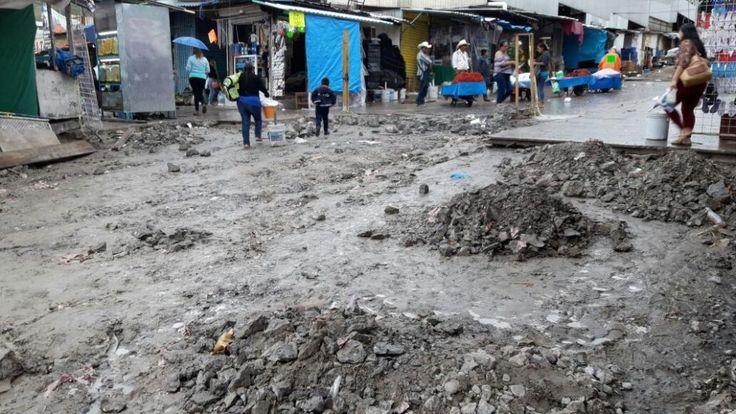 COLAPSA DRENAJE DE PERIFERIA DEL MERCADO PRINCIPAL DE CHILPANCINGO
