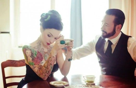 What a beautiful tattooed couple. #InkedGirl Cassidy Rose - Repinned // www.kiezkicker-hamburg.de