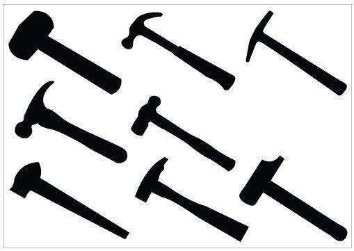 Hammer Silhouette Clip Art pack | Hamner | Pinterest ...