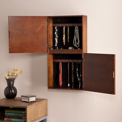 Wildon Home ® Florence Double-Door Wall Mount Jewelry Cabinet