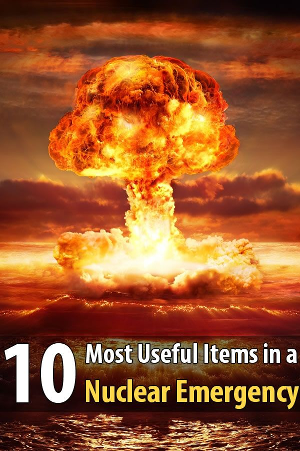 To improve your odds of surviving a nuclear blast, there are a few items you need to have including sandbags, plastic sheeting, and potassium iodide.