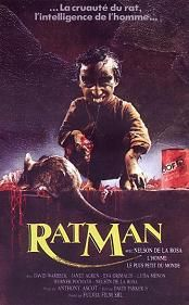 Ratman (1988) $19.99; aka's: Quella Villa In Fondo Al Parco/Terror House; A deranged scientist in South American successfully cross-breeds a rat with a monkey, creating a creature with poisonous teeth and claws. The creature, named Mousey (Nelson De La Rosa), then runs amok and kills some young models who are on a photo shoot. Also with Eva Grimaldi, Janet Agren, David Warbeck and Werner Procath.