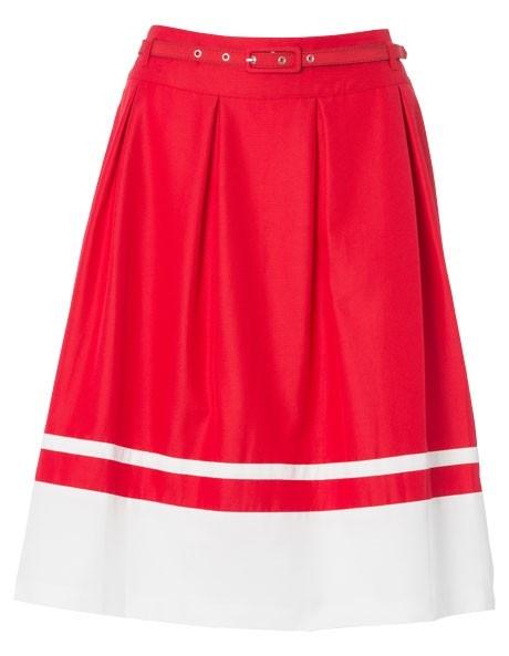 Basque - Striped Colour Block Skirt