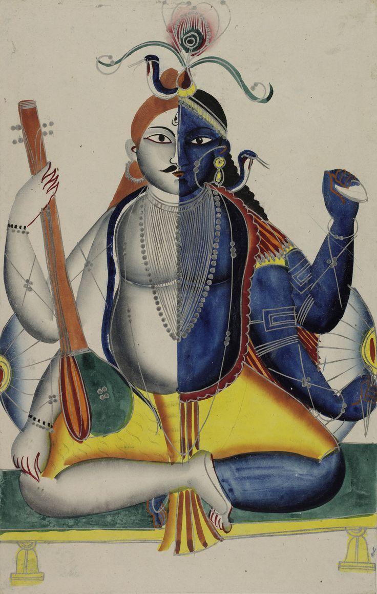Vishnu and Shiva combined as Hari Hara (c. 1865) - The British Library.