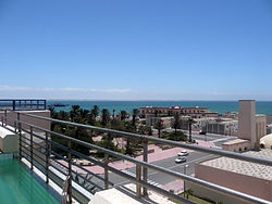 Dakhla (Dajla) (Arabic: الداخلة; formerly Villa Cisneros under Spanish rule), is a city in the Western Sahara and the Sahrawi Arab Democratic Republic and the capital of the Moroccan administrative region Oued Ed-Dahab-Lagouira. It has about 55,618 inhabitants[1] and is built on a narrow peninsula of the Atlantic Coast about 550km south of El Aaiún (Laayoune).
