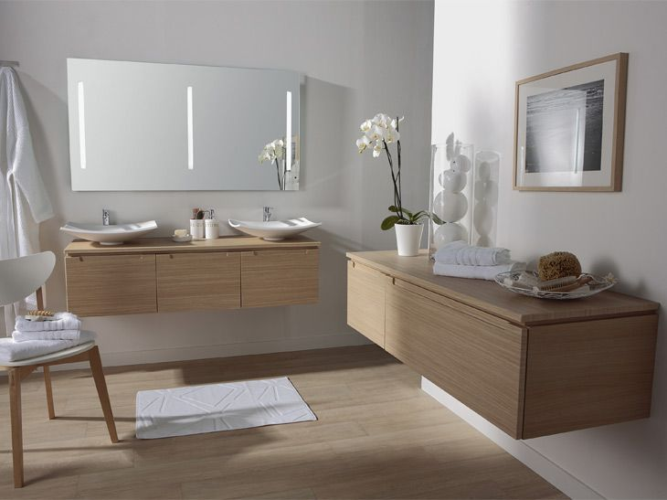 29 best salle de bain images on Pinterest Bathroom, Modern - leroy merlin meuble salle de bain neo