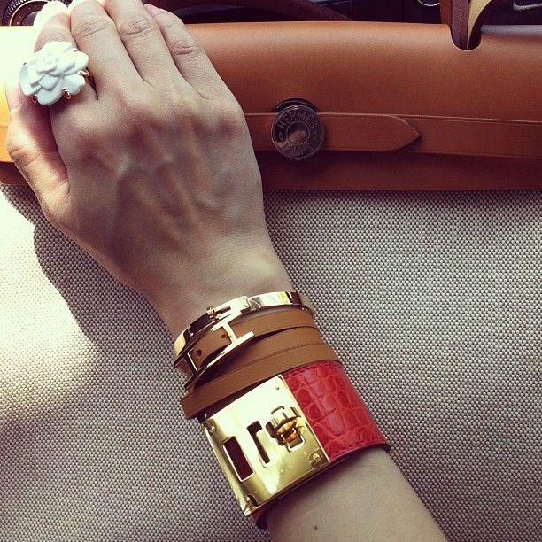 Hermes Herbag & Kelly Dog Bracelet