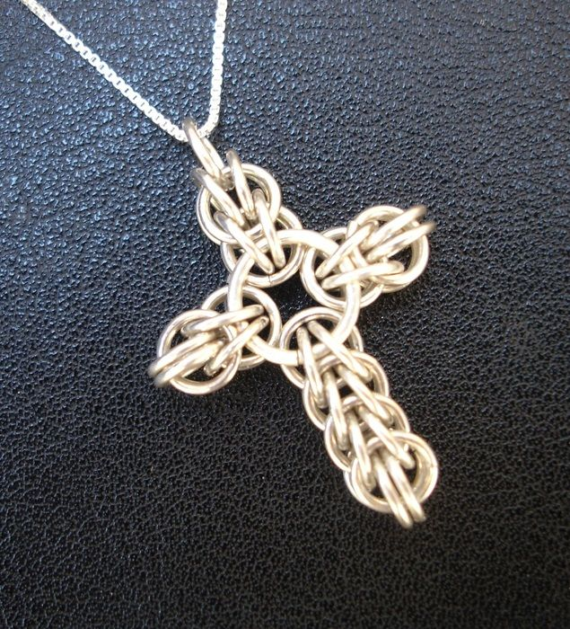 Celtic Cross Patterns Chainmaille | Cross Necklace
