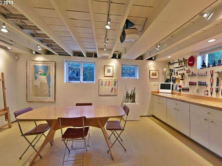 open basement ceiling ideas Basements Pinterest Open