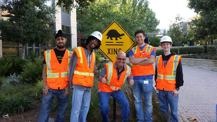 The VMware University Relations Team would like to extend a big thank you to the VMware Intern Class of 2013 for their gracious and fun donation of a turtle crossing sign to the @VMware Palo Alto campus! Let's just say that the turtles have become quite the celebrities over the years here at VMware headquarters. #vmwareu