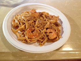 COOK'n WITH THE JEEP GUY: CAJUN SHRIMP AND SAUSAGE FETTUCCINE ALFREDO