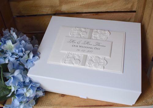 Delicate Lace Wedding Keepsake Box