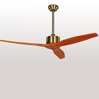 Rustique Designers Ventilateur de plafond Lumière d'ambiance Pour Bureau/Bureau de maison Extérieur Garage 220-240V Ampoule non incluse