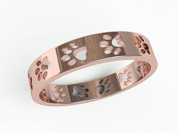 Paws Ring Band Memorial pet jewelry