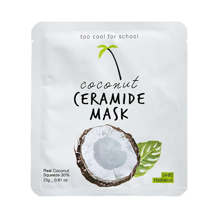 [TOO COOL FOR SCHOOL] Coconut Ceramide Mask - 2pcs | Health & Beauty, Skin Care, Masks & Peels | eBay!