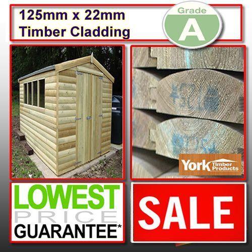 125mm-x-22mm-A-Grade-100m-tanalised-log-lap-barrel-board-timber-cladding-shed