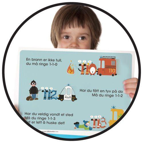 NØDNUMMERSANGEN - Nå kan du printe den i A3 format. Store fine plakater, som alle kan se og lære fra (GRATIS FIL)