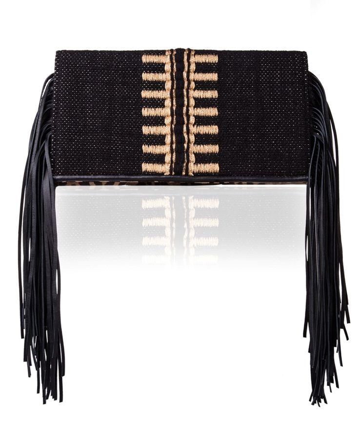 Tagari Black Meliti Clutch Bag