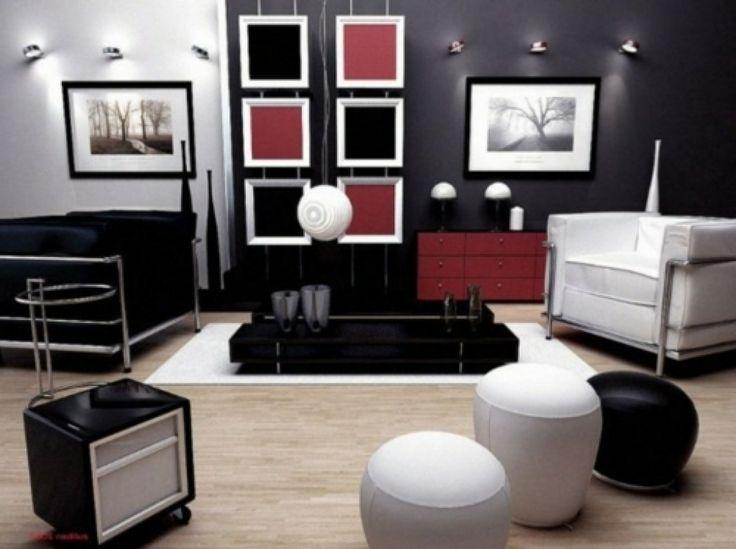 hinreißende wohnideen in rot-schwarz-weiß ? ragopige.info - Wohnzimmer Rot Schwarz Weis